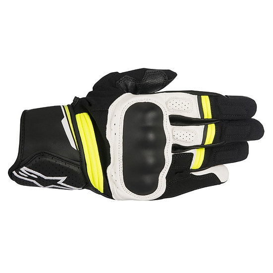 Alpinestars Booster Gloves - Black/Yellow Fluro