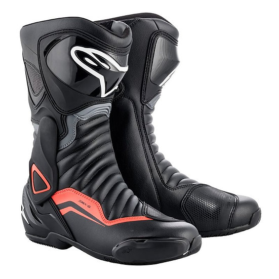 Alpinestars SMX 6 V2 Boots - Black/Grey/Red Fluro
