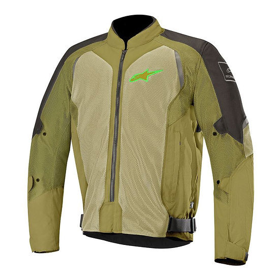 Alpinestars Wake Air Jacket - Black/Olive/Green Fluro