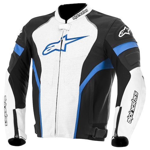 Alpinestars GP Plus R Leather Jacket - Black/White/Blue
