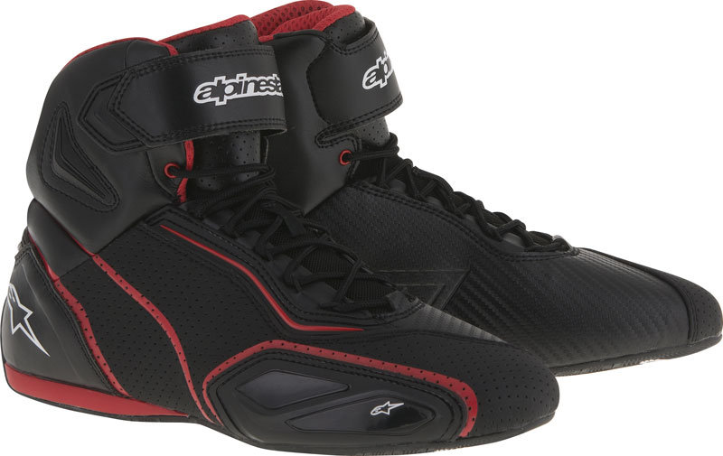 Alpinestars Faster 2 Vented Shoes - Black/Red