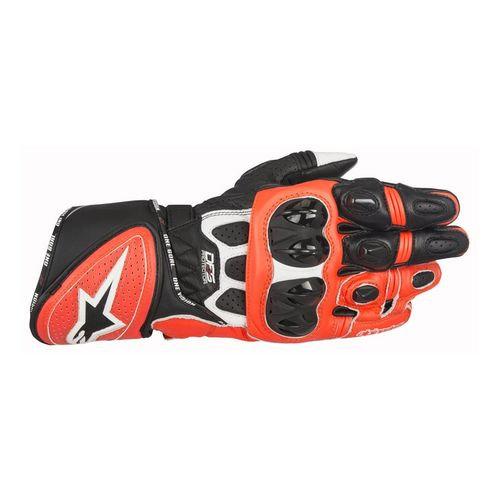 Alpinestars GP Plus R Leather Gloves - Black/White/Red Fluro