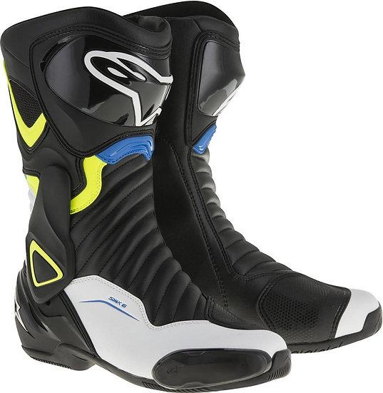 Alpinestars SMX 6 V2 Boots - Black/White/Yellow Fluro