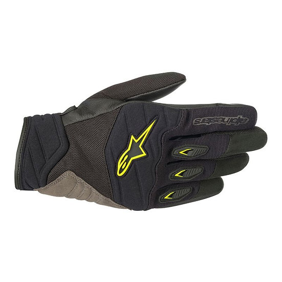 Alpinestars Shore Gloves - Black/Yellow Fluro