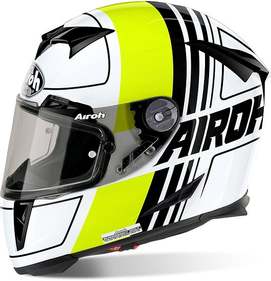Airoh GP 500 Helmet - Scrape Ylw/Wht