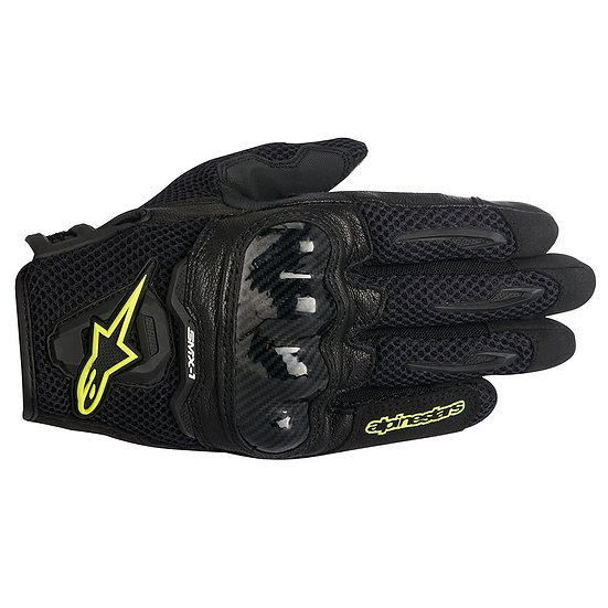 Alpinestars SMX-1 Air Gloves - Black/Yellow Fluro
