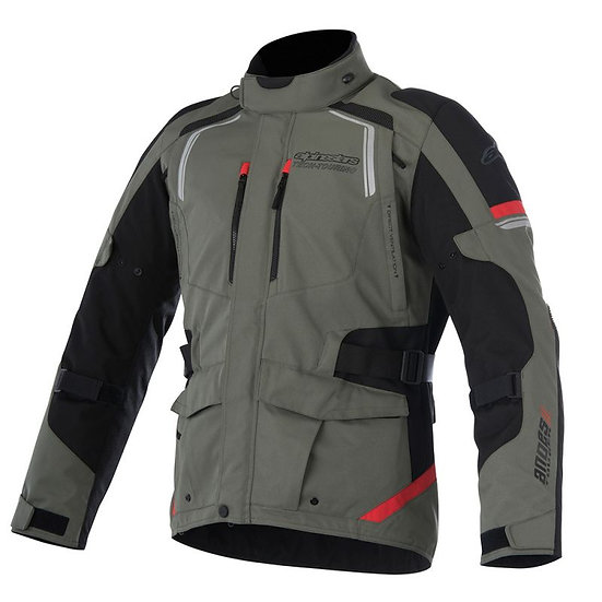 Alpinestars Andes V2 Drystar Jacket - Military Green/Black/Red