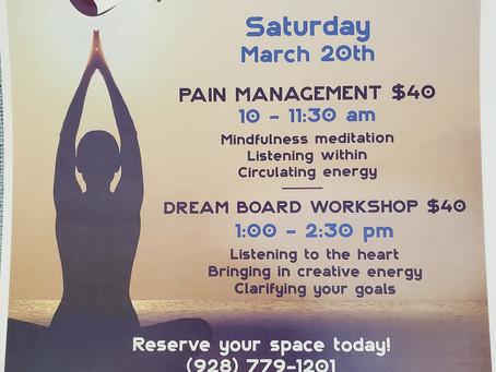 March Workshop Schedule