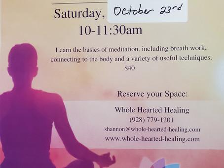 Meditation Basics, October 23rd!