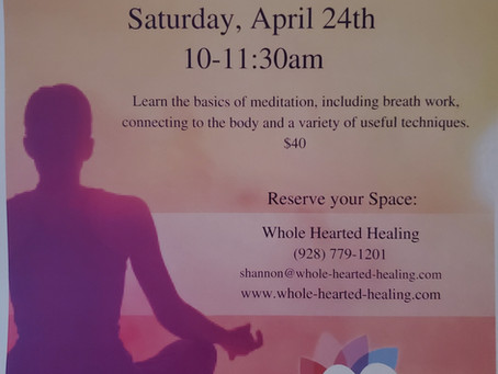 Meditation Basics April 24th