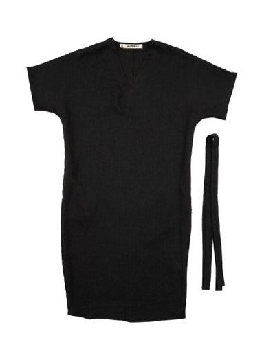 Vaļīga linu kleita (coal)