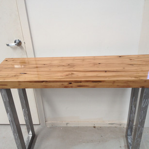 Hall Table with Steel Legs