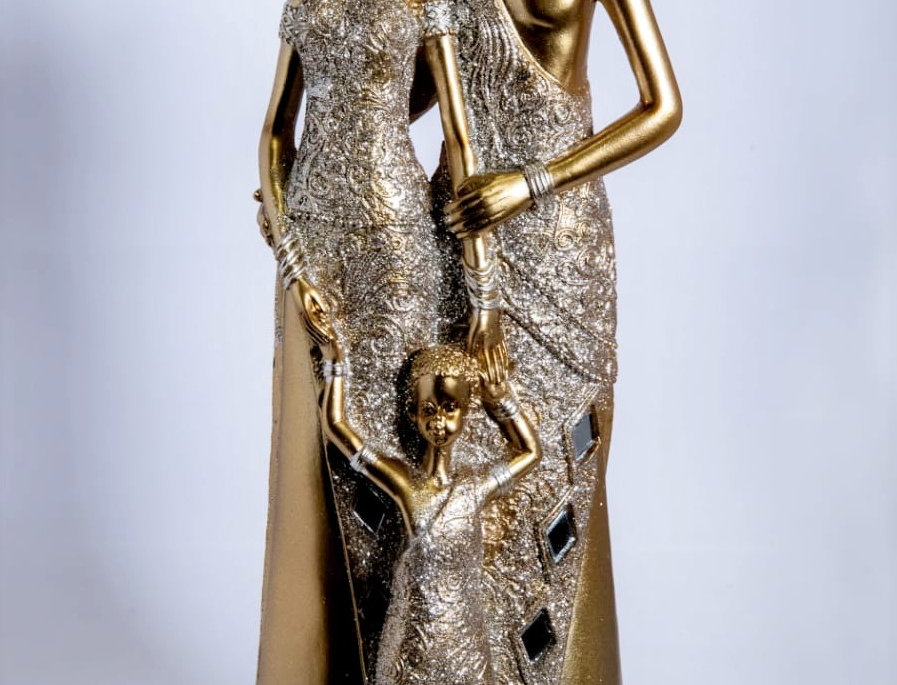 Juliana Collection Golden Massai Mother & Child Figurine