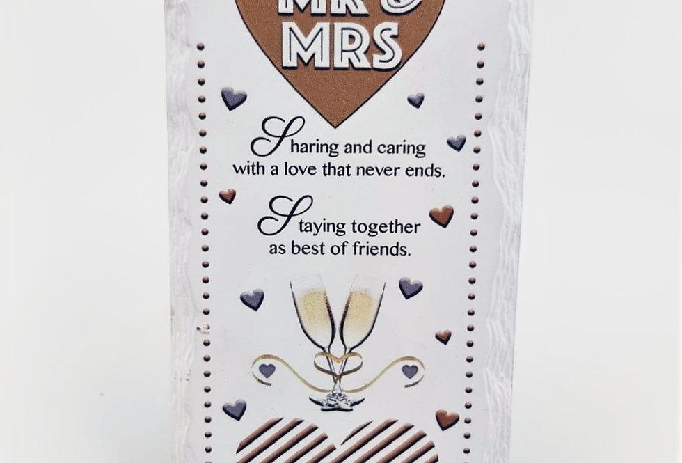Word Gallery Mr & Mrs Plaque