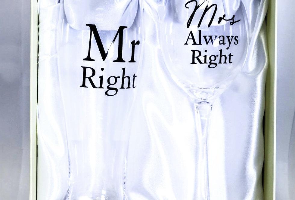 Mr & Mrs Right Gift Set