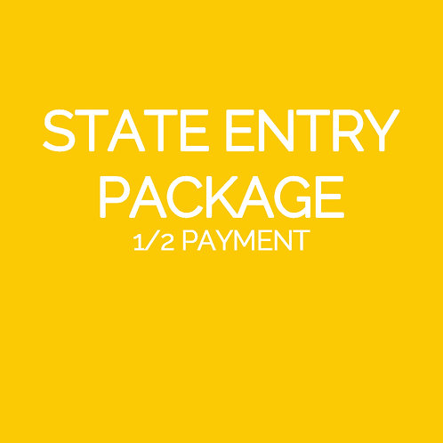 STATE ENTRY 1/2 PAYMENT