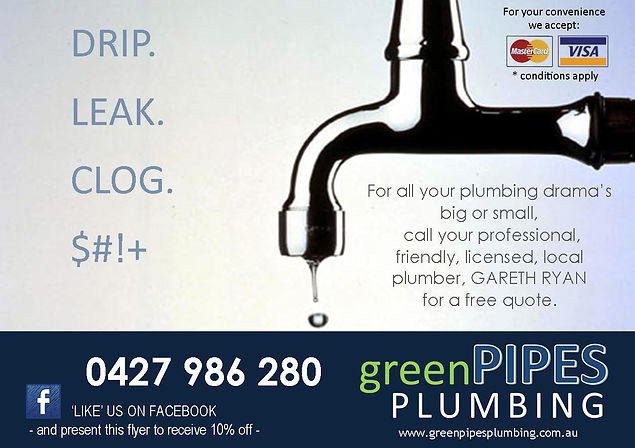 10% Off Plumbing Flyer