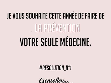 Résolution N°1 pour cette nouvelle année 2019 : que la Prévention soit votre seule médecine. 🤗👩⚕