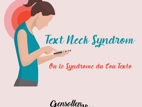 Text Neck - douleurs cervicales liées à l'utilisation prolongée du portable