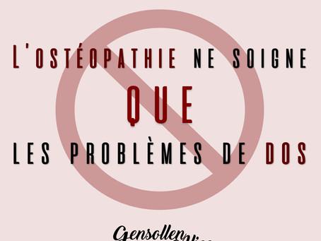L'Ostéopathe ne soigne que les Problèmes de Dos - Idée Reçue N°3