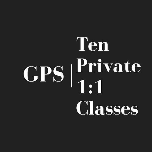 Ten Private 1:1 Classes