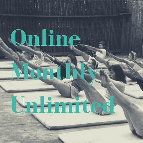 Online Group Classes Monthly Unlimited