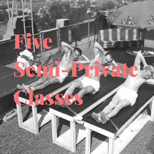 5 Semi-Private Classes