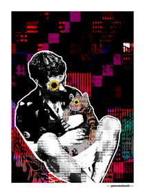 ARTE N.23 - ENTRE QUATRO PAREDES – LOVE EM PIXELS– 2020 – FINE ART – 67,5 x 90 cm