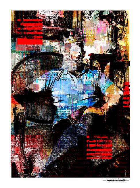 ARTE N.13 - ENTRE QUATRO PAREDES – PORTRAIT – 2020 – FINE ART - 67,5 x 90 cm