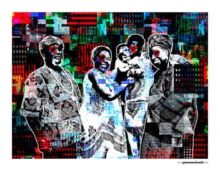ARTE N.38 - ENTRE 4 PAREDES – O CASAMENTO DE OXALÁ COM OXUM – 2020 – FINE ART – 90 X 70 cm