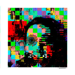 ARTE N.8 - ENTRE QUATRO PAREDES – O OLHAR – 2020 – FINE ART - 47,5 x 47,5 cm