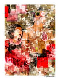 ARTE N.11 - ENTRE QUATRO PAREDES – GIRASSÓIS– 2020 – FINE ART - 67,5 x 90 cm