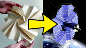 Origami used in space