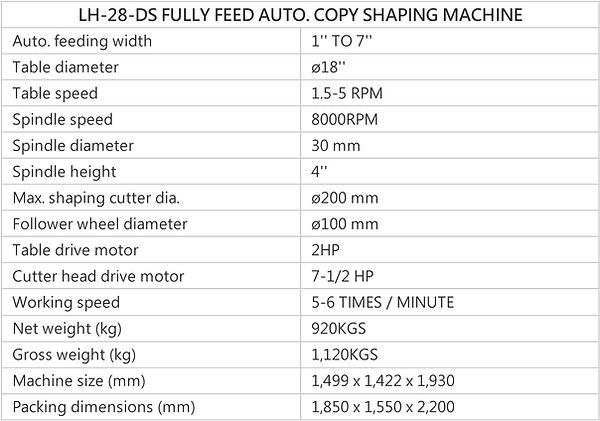 FULLY AUTO COPY SHAPING MACHINE