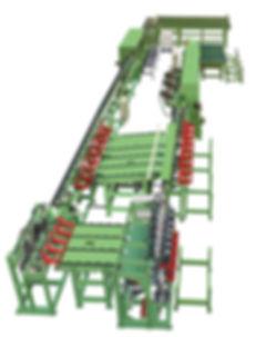 AL-7503 全自動原木生產線防風木機材加工設備