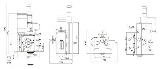 IK-610L-RV Lengthened Right Vertical Milling Head