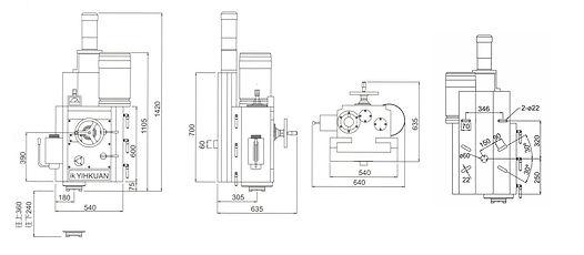 IK-915-LV PowerfulLeft Vertical Milling Head