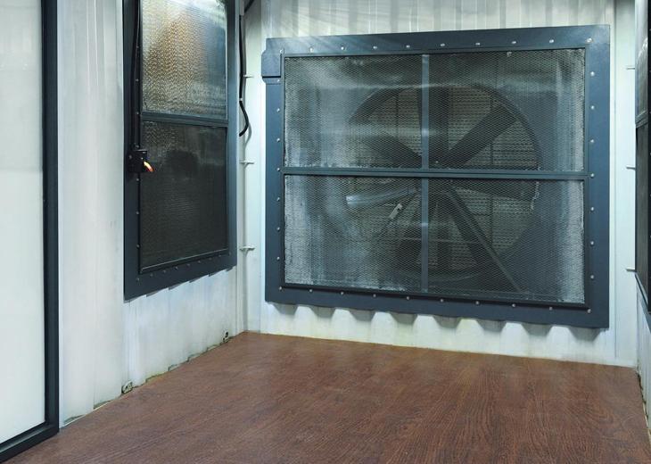 水冷式自然降溫貨櫃屋