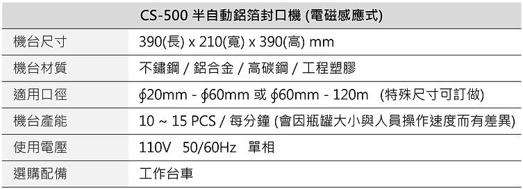 半自動瓶蓋鋁箔封口機 (電磁感應) CS-500