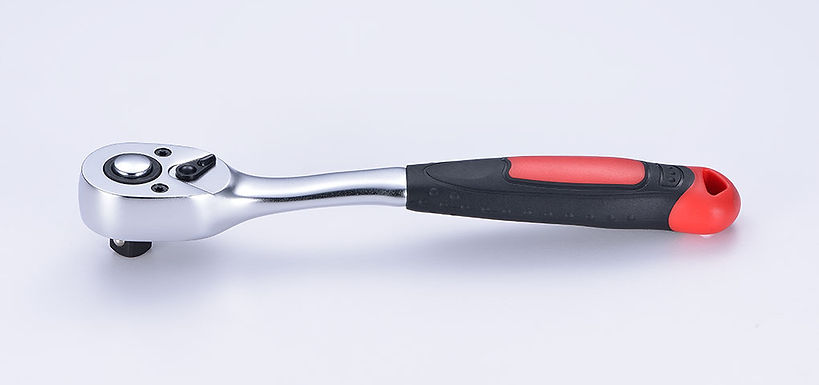 72 Teeth Oval Head Curved Ratchet Handle with Quick Release
