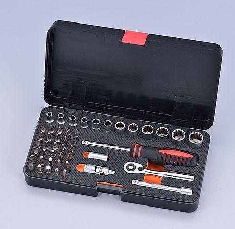"""JSR-15X3A19N1 47pcs 1/4""""DR. Ratchet Tool Set"""