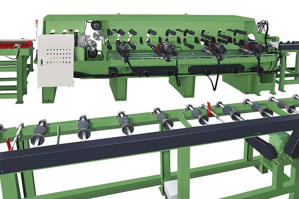 AL-7499  AUTO. LINE PEELING AND LATHING MACHINE