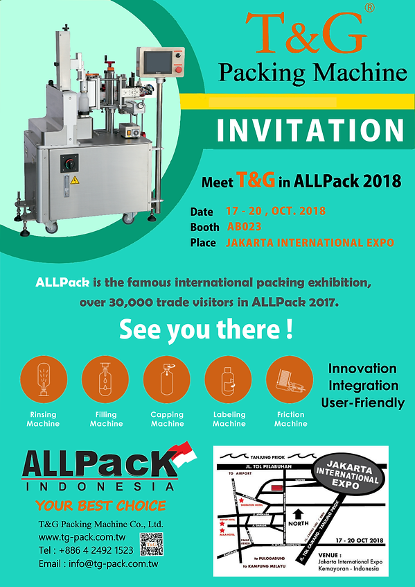 "Visit T&G in ""All Pack Indonesia 2018"""
