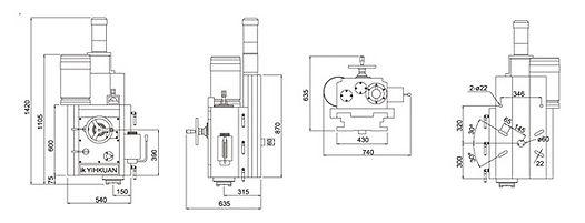 IK-915-RV PowerfulRight Vertical Milling Head