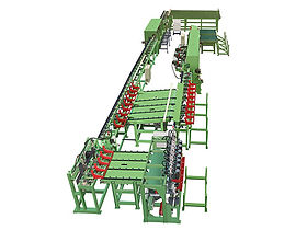 Auto. Line Peeling and Lathing Machine