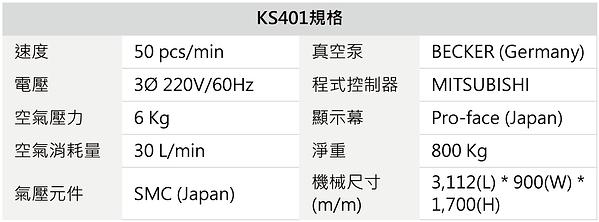 KS401 記憶卡(小白盒) 自動裝填組裝機
