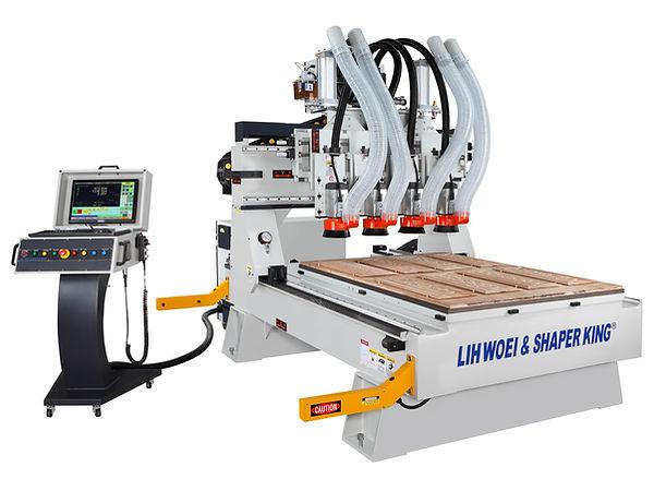 LH-510-SS 5*10 CNC鋁板專用傘型刀庫鉋花機