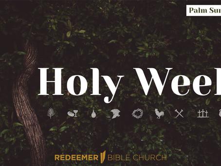Holy Week, Day 1: Palm Sunday