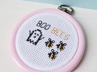 Boo bees cross stitch