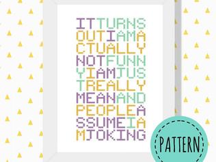 Joking cross stitch pattern